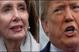 La demócrata Nancy Pelosi y Donald Trump.