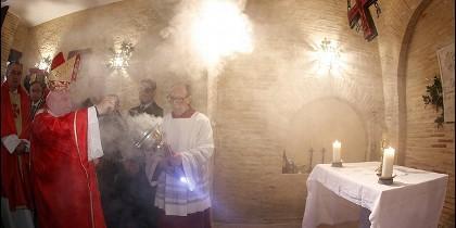 Cañizares durante la misa solemne en honor al patrón