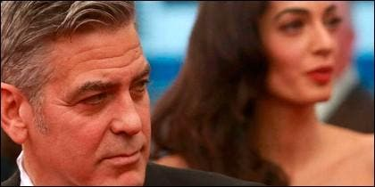 George Clooney and wife