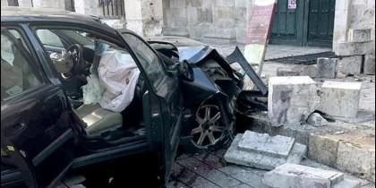 Accidenteen la fachada de Nuestra Señora de La Calle