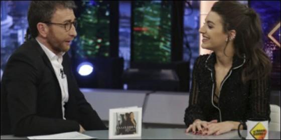 Ana Guerra presenta su disco en 'pijama' en El Hormiguero