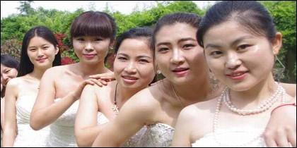 Mujeres en China.