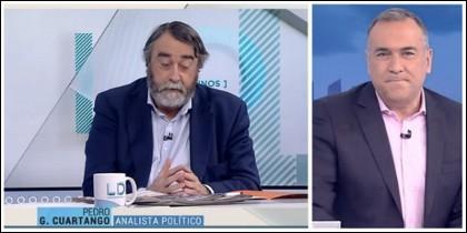 Pedro G. Cuartango, defendiendo su pesebre en TVE.