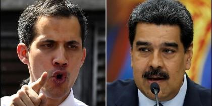 Juan Guiadó y Nicolás Maduro