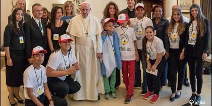 Jóvenes de Scholas con el Papa en Panamá