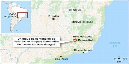 Brumadinho, al sureste de Brasil.