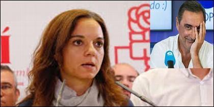 Sara Hernández (PSOE) y Carlos Herrera (COPE).