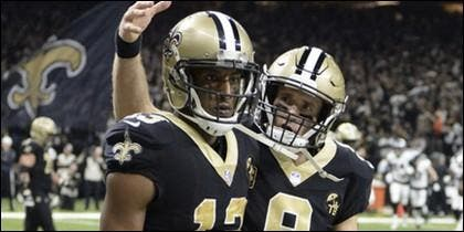 Michael Thomas y  Drew Brees