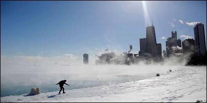 Frio en Chicago.