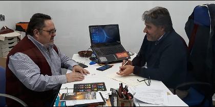 Juan Pedro Castellano, con el hermano Antonio Alegre, responsables de la Fundación Edelvives