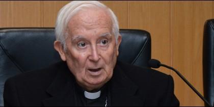 Cardenal Cañizares, esta mañana en la UCV
