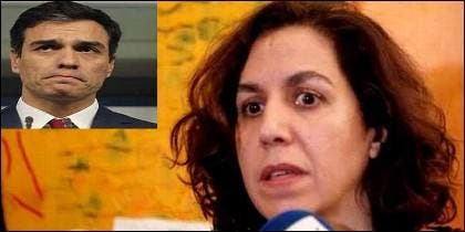 Pedro Sánchez e Irene Lozano.