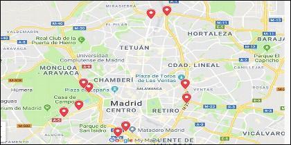 Estos son los 10 radares que más multan en Madrid.