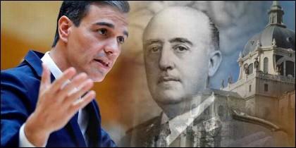 Pedro Sánchez (PSOE), Franco y La Almudena.