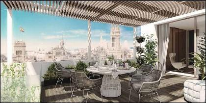 Un ático de superlujo en el centro de Madrid.