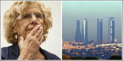 Manuela Carmena y la boina de contaminación