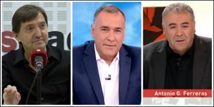 Federico Jiménez Losantos, Xabier Fortes y Antonio García Ferreras.