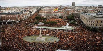 10 de febrero de 2019: 250.000 personas claman contra la 'traición' de Sánchez.