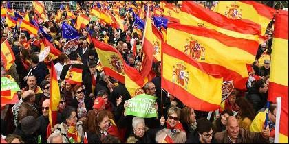 Manifestación por España y contra Pedro Sánchez (10-2-2019).