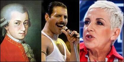 Mozart, Freddie Mercury y Ana Torroja.