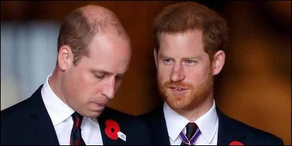 Los príncipes Guillermo y Harry.