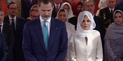Los reyes de España en el Mausoleo de Rabat
