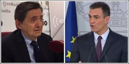Federico Jiménez Losantos y Pedro Sánchez.