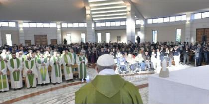 El Papa, en la Fraterna Domus de Roma