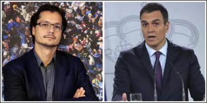 Nacho Torreblanca y Pedro Sánchez.