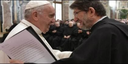 Audiencia del Papa con la comunidad del Augustinianum