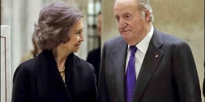 La Reina Sofía y Don Juan Carlos, en una imagen de archivo.