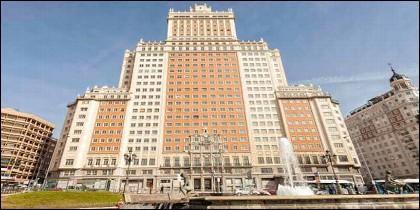 El Edificio España, en Madrid.