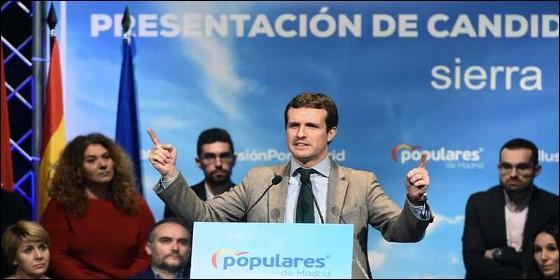 Pablo Casado (PP) en campaña electoral.