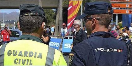 Policía Nacional y Guardia Civil.