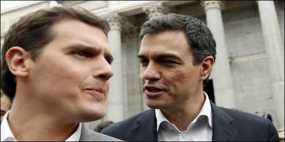 Albert Rivera (CS) y Pedro Sánchez (PSOE).