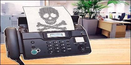 El teléfono y el FAX.