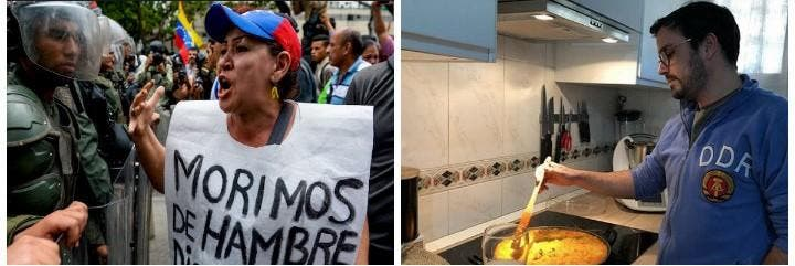 La foto de la vergüenza que a Alberto Garzón le resbala.
