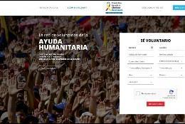 Web de voluntarios en Venezuela