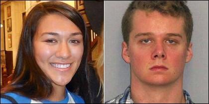 Sarah Stern y su 'amigo' y asesino Liam McAtasney.