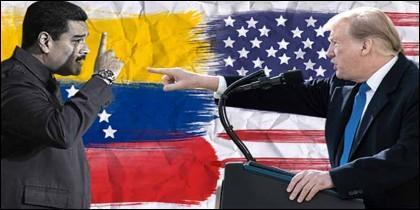 Nicolás Maduro (VENEZUELA) y Donadld Trump (EEUU).