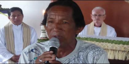 El profesor indígena Miguel Piloto