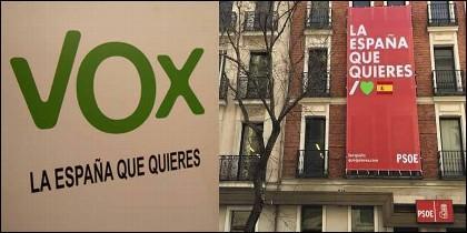El eslogan de VOX y el plagio del PSOE.