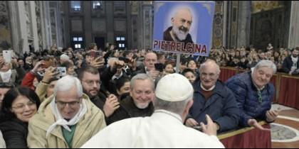 Audiencia papal en la basílica de San Pedro a los fieles de Benevento