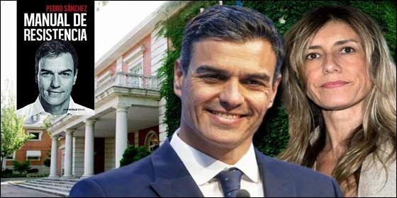 Pedro Sánchez, su esposa Begoña, La Moncloa y el libro.