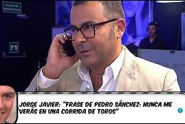Llamada de Pedro Sánchez a Jorge Javier