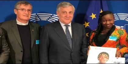 Augusta, con autoridades religiosas y políticas en Bruselas