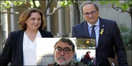 Colau, Torra y Carles Sastre, el asesino del empresario Bultó.