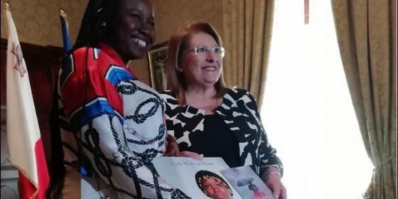 Augusta, con la presidenta de Malta