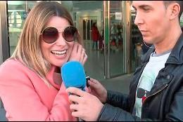 María Lapiedra con Omar Suárez   (Telecinco)