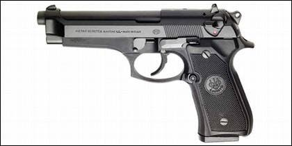 La pistola Pietro Beretta del modelo 92 FS.